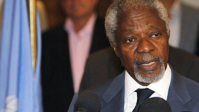 UN and Arab League's envoy to Syria, Kofi Annan