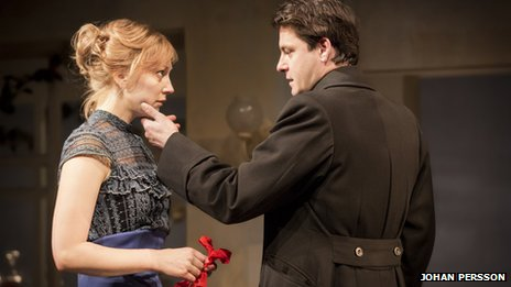 A Dolls House - Hattie Morahan (Nora Helmer) and Dominic Rowan (Torvald Helmer)