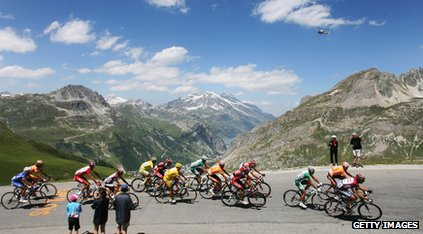 Tour de France in mountains