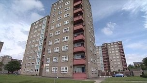 The flats in the Lindsey Mount area of Leeds