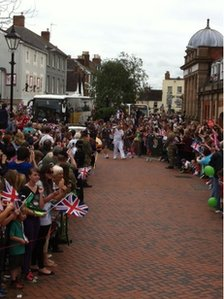Crowds out in force in Bicester