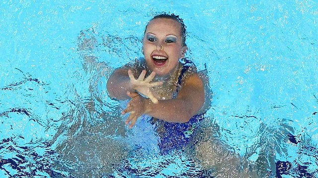 Mariya Koroleva: Synchro swimmer says 'underwater you feel like you're dying'