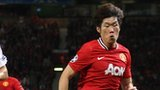 Park Ji-sung in action for Manchester United