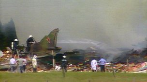 Crashed MiG in Belgium in 1989