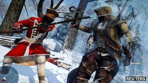 A scene from the forthcoming Assassin&#039;s Creed 3