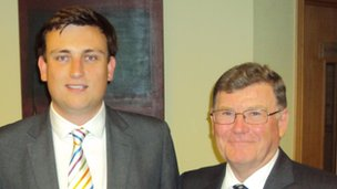 Nick Varley (left) and Ken Lupton 