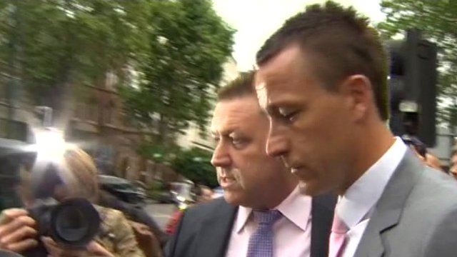 John Terry leaves court