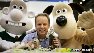 Wallace and Gromit with Nick Park