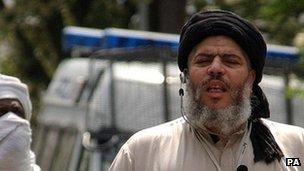 Abu Hamza on London street