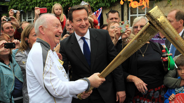 David Cameron meets Clive Stone