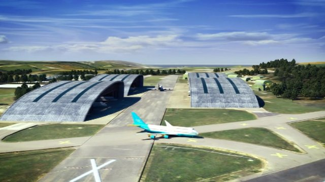 Artist's impression of Newquay aerohub