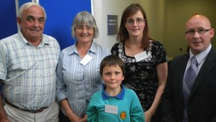 Mick Barber, Julie Jones, Andrea Jones, Alan Williams and councillor Rhodri Davies
