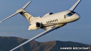 Hawker Beechcraft plane
