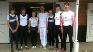 Steve Redgrave and rowers