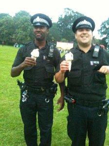 Police ice creams