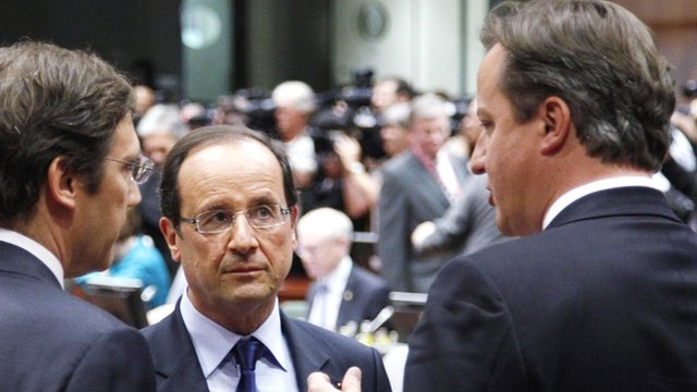 French President Francois Hollande and Prime Minister David Cameron