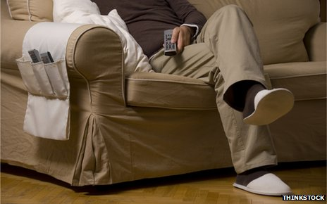 Man sitting on sofa 