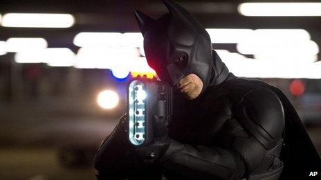 Christian Bale portrays Batman in a scene from The Dark Knight Rises