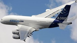The A380 double-decker jet is the firm&#039;s flagship plane