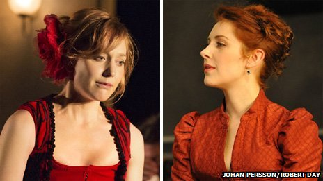Hattie Morahan in A Doll's House and Emma Hamilton in Hedda Gabler