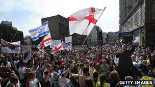 An EDL rally