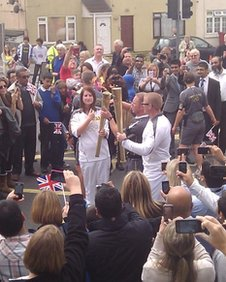 The torch relay reaches Slough