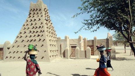 Djingareyber mosque in Timbuktu, Mali