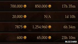 Screengrab of auction house
