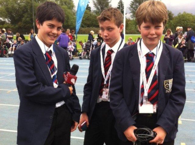 School Reporters at Stoke Mandeville Stadium