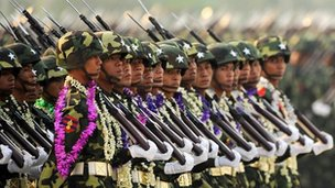 Burma military parade 2010
