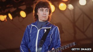 Bill Wyman on stage in 1982