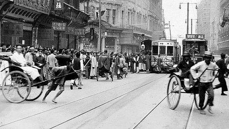 Nanking Road, Shanghai, 1925