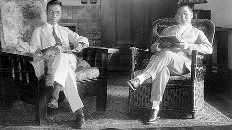 Fu Bingchang and Sun Ke (son of Sun Yat-sen), 1948-9