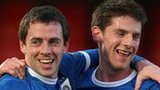 Gary Browne and Daryl Fordyce of Linfield