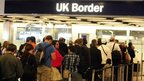 Heathrow Airport Border Control queue