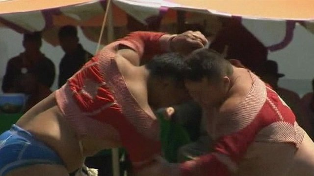 Mongolian wrestling