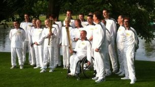 Caversham Court torchbearers