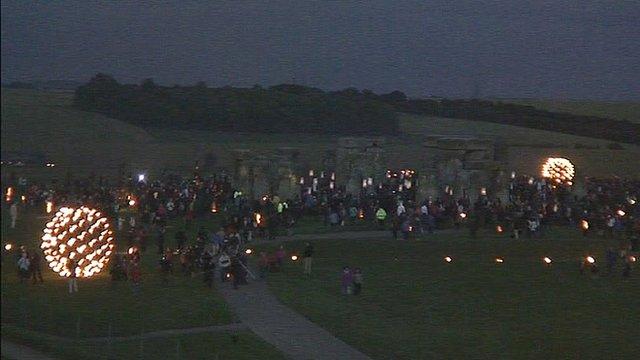 Stonehenge lit up
