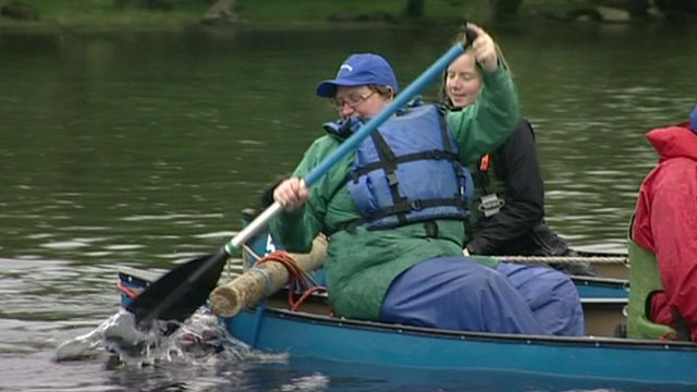 Canoeing organised by the Charity Bank