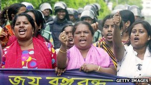 Bangladesh opposition protesters, 2006