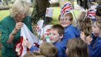 Camilla, Duchess of Cornwall with children