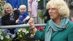 Camilla, Duchess of Cornwall with little Bailey Bevan