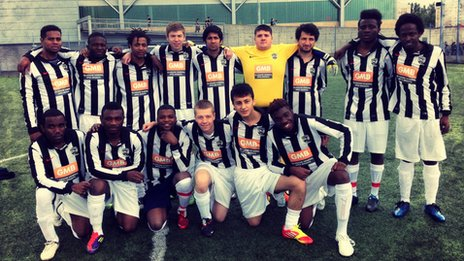 United Glasgow FC, who play in an anti-racism league running in Glasgow for more than 10 years