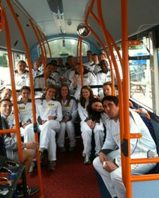 Clare's fellow torchbearers