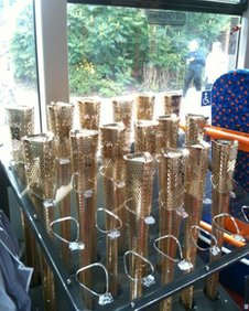 The torches ready for action