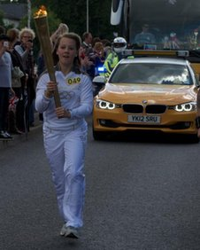 Georgina Sanderson with the torch