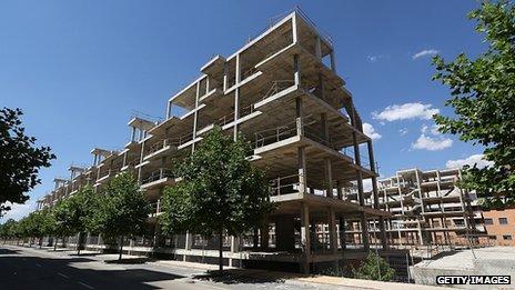 Abandoned construction in Ciudad Valdeluz, Spain, 9 Jul 12