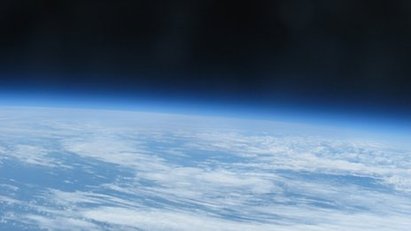 A picture of the earth from the edge of space