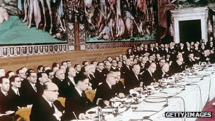 Signing of Treaty of Rome in 1957 