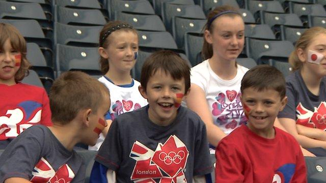Children at Hampden